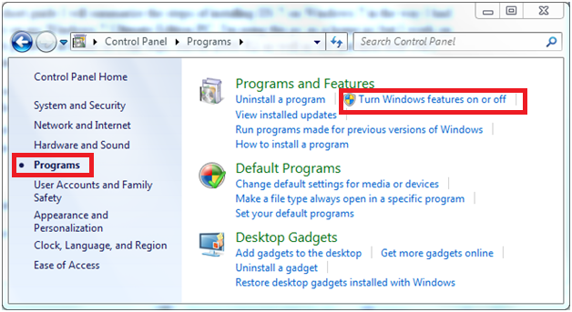 install iis 7 windows 10