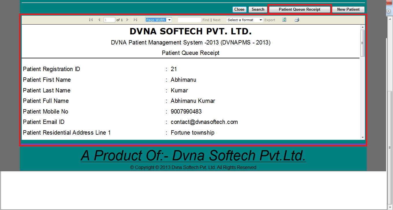DVNAPMS-2013 | DVNA Patient Quque Instruction Mobile No Page